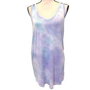 Betsy Johnson Purple and Blue Tie Dye Dress